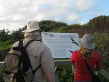 Interpretive signage at Flat Rock © Big Volcano